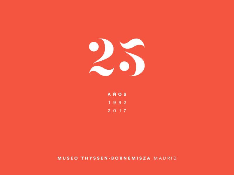 Thyssen logo 25 años